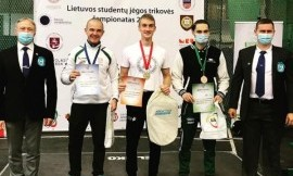 VDU komanda nugalėjo Lietuvos studentų jėgos trikovės čempionate