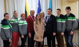 Lietuvos delegacija lankėsi Lietuvos Respublikos generaliniame konsulate Almatoje
