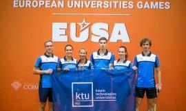 EUSA žaidynių starte puikūs stalo tenisininkų ir kuklūs badmintoninkų pasirodymai bei galingas rankininkių startas