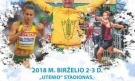 Birželio 2 - 3 d. Utenoje vyks Lietuvos studentų čempionatas ir Lietuvos lengvosios atletikos federacijos taurės varžybos