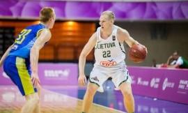 Lietuvos studentų krepšinio rinktinė įveikė Ukrainą ir pakilo į pirmą turnyrinės lentelės vietą (nuotraukos, komentaras)
