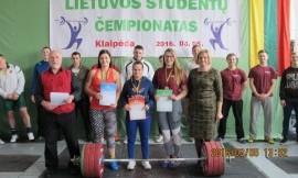 2016 m. Lietuvos studentų universitetų sunkiosios atletikos čempionatas