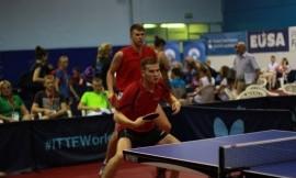 10 - oji EUSA žaidynių diena pergalinga KU stalo teniso dvejetų komandai