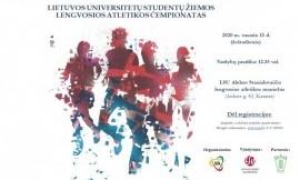 Lietuvos studentų žiemos lengvosios atletikos čempionatas - pasikeitimai programoje!