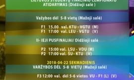 Balandžio 21 - 22 d. Lietuvos studentų tinklinio čempionato finalai
