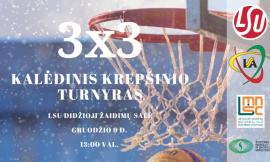 Kalėdinis 3 x 3 krepšinio turnyras