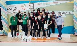 Lietuvos studentų aerobinės gimnastikos čempionate nugalėjo Lietuvos sporto universiteto komanda