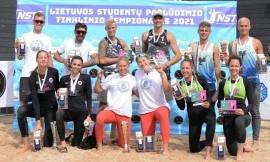 Lietuvos studentų paplūdimio tinklinio čempionai išsaugojo savo sostus