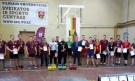 Vilniaus universitetas 12 - tą kartą nugalėjo Lietuvos universitetų studentų svarsčio kilnojimo čempionate