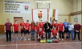 Lietuvos universitetų studentų svarsčio kilnojimo čempionatą laimėjo VU komanda