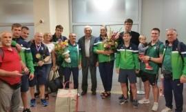 Lietuvoje iškilmingi sutiktos dziudo ir sunkiaatlečių komandos