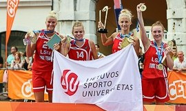 Lietuvos sporto universiteto merginos Europos studentų žaidinių (3x3 krepšinis) čempionės