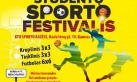 Tarptautinis studentų sporto festivalis - rugsėjo 20 d.